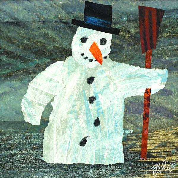 Eric Carle All Around Us Character Art Snowman Canvas Print