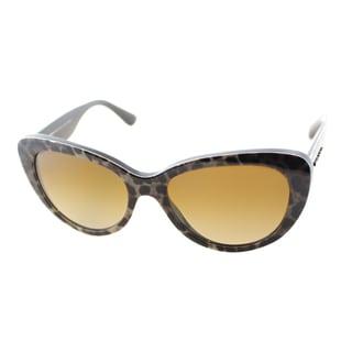Dolce & Gabbana Women's Leopard Plastic Cat Eye Sunglasses