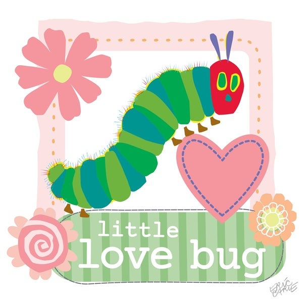 Eric Carle The Very Hungry Caterpillar Character Art Little Love Bug Canvas Print
