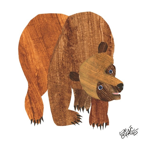 Eric Carle Brown Bear Character Art Front Cover Canvas