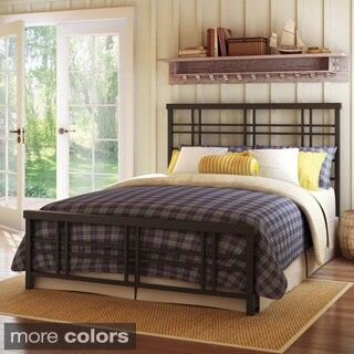 Amisco Heritage 54-inch Full Size Metal Headboard and Footboard