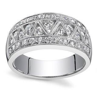 18k White Gold 1 1/8ct TDW Diamond Wedding Band (I, SI1)