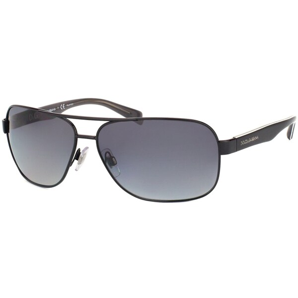 Dolce & Gabbana Men's Black Metal Sunglasses