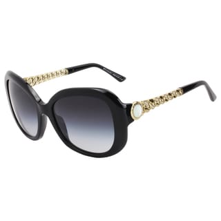 Bvlgari Women's Shiny Black Plastic Fashion Sunglasses
