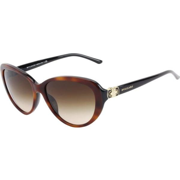 Bvlgari Women's 'BV 8131B 879/13' Havana Cat Eye Sunglasses