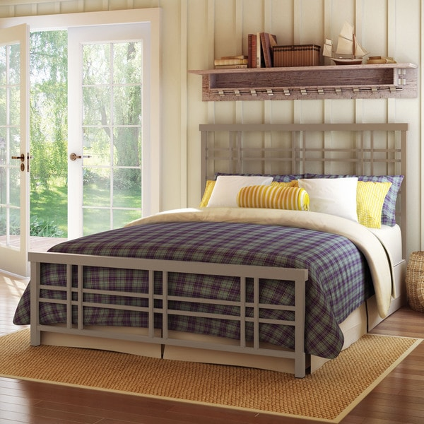 Amisco Heritage Queen Size 60-inch Metal Headboard and Footboard