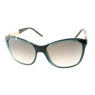 Bvlgari Women's 'BV 8104 992/8E' Aqua Green Azure Cat Eye Sunglasses