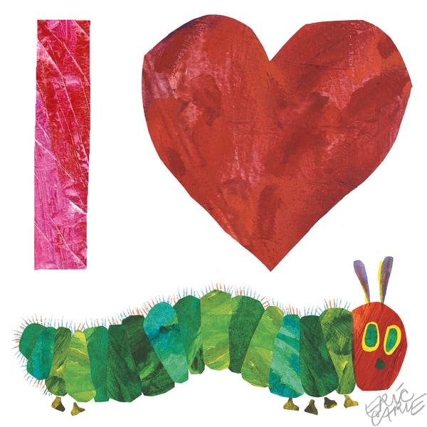 Eric Carle The Very Hungry Caterpillar Character Art Love Heart Caterpillar 1 Canvas Print