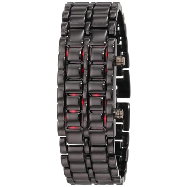 Stainless Steel Lava LED Digital Watch
