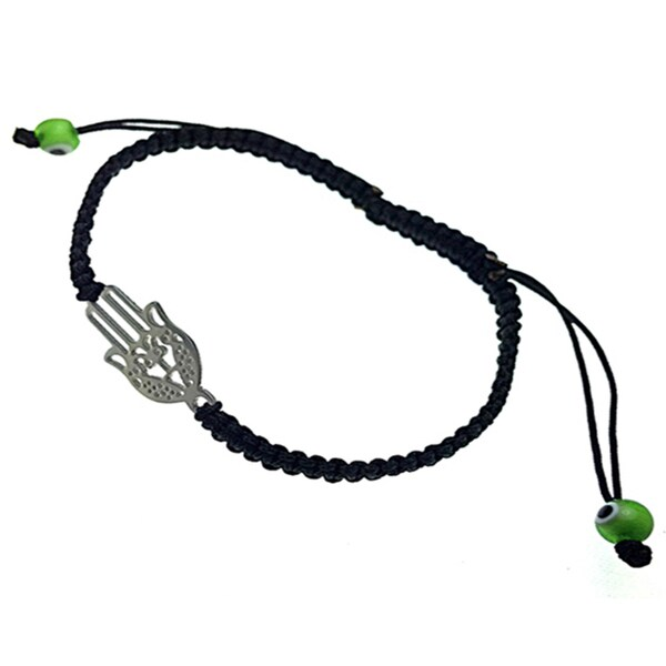 Hamsa Hand Evil Eye Macrame Braided Bracelet