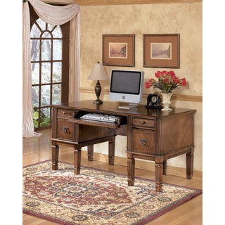 Signature Design by Ashley Hamlyn Brown Home Office Storage Leg Desk