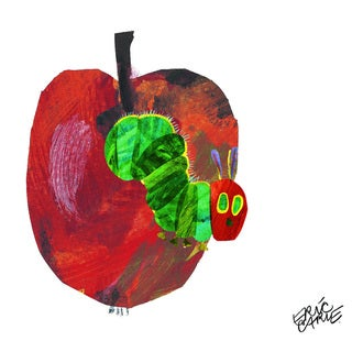 Eric Carle The Very Hungry Caterpillar Character Art Apple 3 Canvas Print - Multi-color