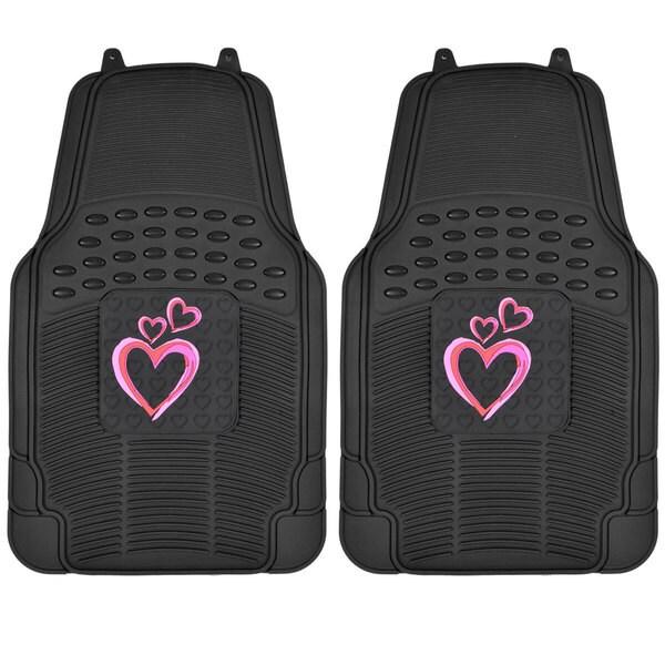 BDK New Heart Design Rubber Mats - 2 Piece 14369459