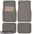 Motor Trend 4-piece Elegant Design Checker Car Floor Mats