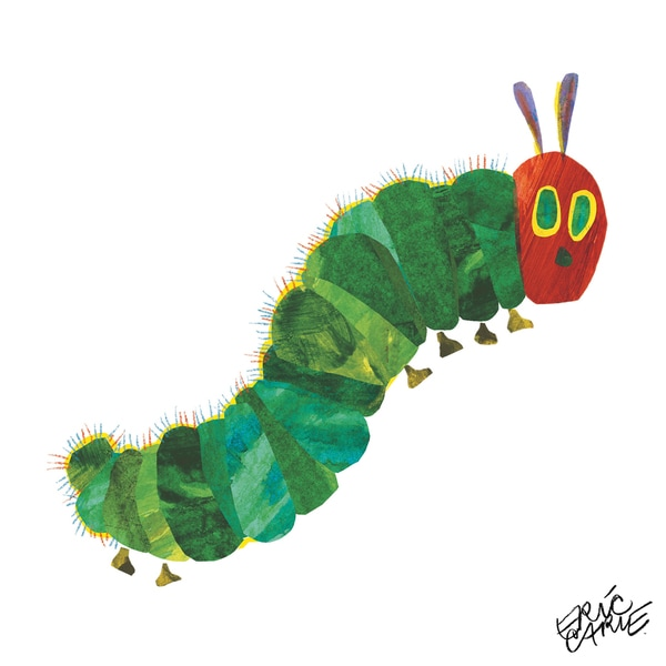 Eric Carle The Very Hungry Caterpillar Character Art Caterpillar 1 Canvas Print