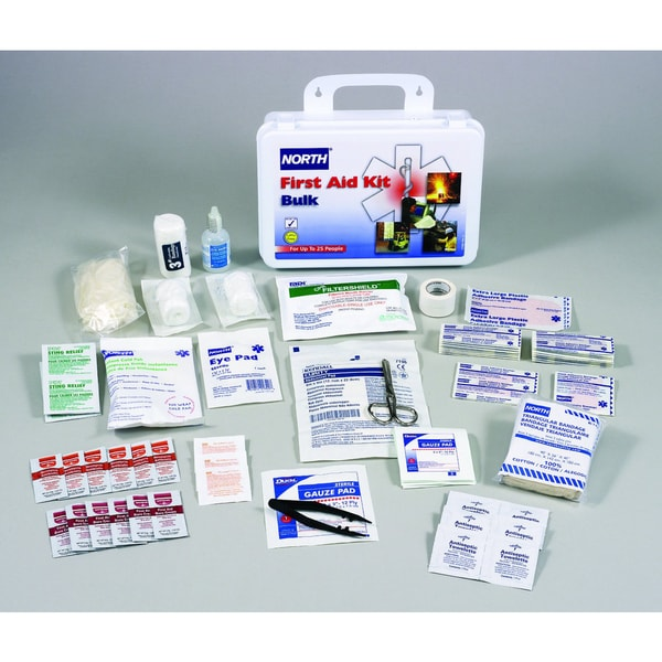 North Safety Bulk First Aid Kit, 25 Person, 85 Pieces