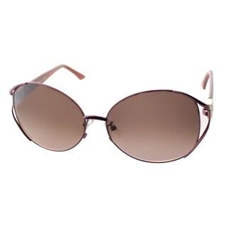 Fendi Women's 'FS 5116K 603' Dark Violet Metal Oval Sunglasses