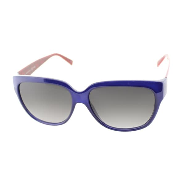 Fendi Women's 'FS 5292 424' Blue and Red Plastic Sunglasses