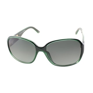 Fendi Women's 'FS 5336 317' Green Plastic Sunglasses
