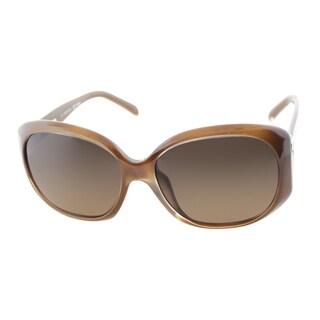 Fendi Women's 'FS 5329 902' Brown Dove Oval Sunglasses