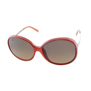 Fendi Women's 'FS 5207 621' Burnt Orange Round Sunglasses