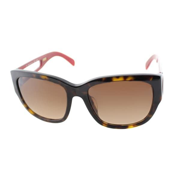 Fendi Women's 'FS 5307A 215' Tortoise Plastic Squared Sunglasses