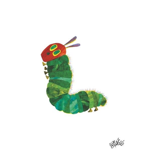 Eric Carle The Very Hungry Caterpillar Character Art Caterpillar 8 Canvas Print 14369804