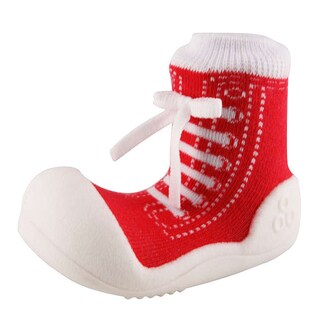 Attipas Infant Red Cotton and Rubber Sneaker Style Shoes