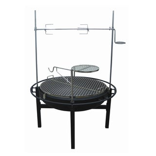 River Grille 31-inch Cowboy Fire Pit Grill with Rotisserie