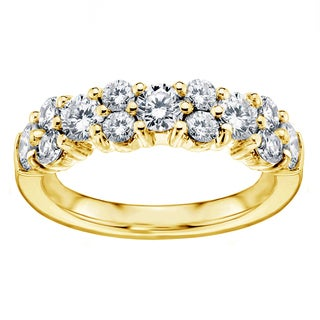 14k or 18k Yellow Gold 2ct Brilliant-cut Garland Diamond Wedding Band (F-G, SI1-SI2)