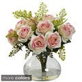 Rose and Maiden Hair Arrangement with Vase