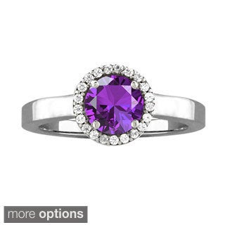 10k White Gold Designer Gemstone Birthstone Ring
