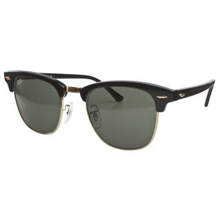 Ray-Ban Black with Green Crystal Clubmaster Sunglasses