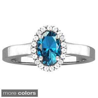 10k White Gold Designer Gemstone and Cubic Zirconia Birthstone Ring