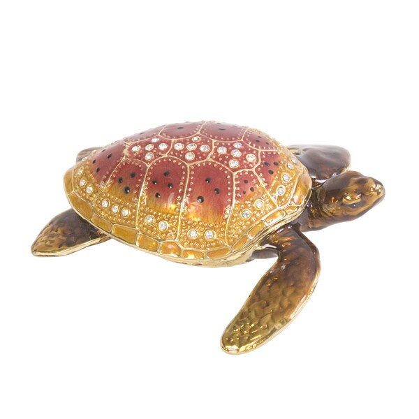Loggerhead Turtle Trinket Box