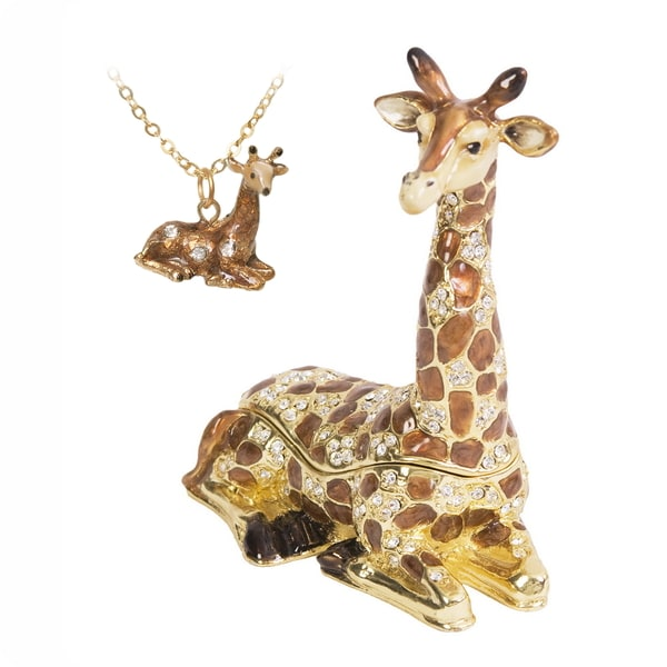 Lazy Giraffe Trinket Box