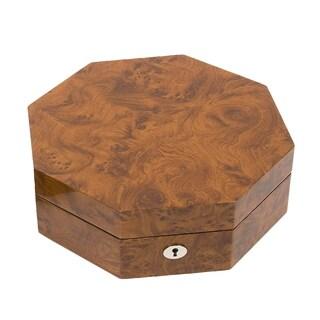 Octagon Jewelry Box in Burl