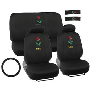 BDK Love Rose Design Universal Car Seat Covers Full Set