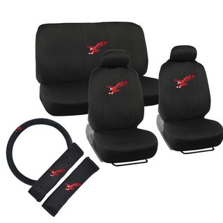 BDK US Eagle Design Car Seat Covers Full Set (Universal Fit)
