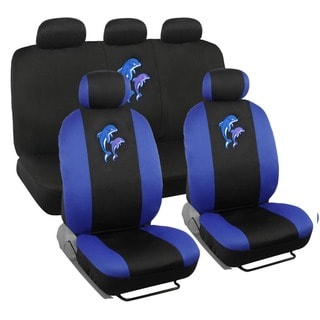 BDK Dolphins Design Car Seat Covers Full Set (Universal Fit)