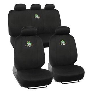 BDK Frog Design Car Seat Covers Full Set (Universal Fit)