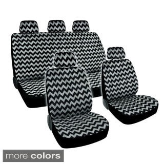 BDK Chevron Design Car Seat Covers Full Set (Universal Fit)