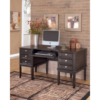 Carlyle Almost Black Home Office Desk