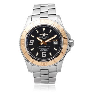 Breitling Stainless Steel Men's 'Superocean 44' 18 KT Gold Automatic Watch
