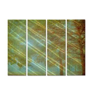 Keri Bevan 'Feels Like a Memory' Metal Wall Hanging 4-piece Set