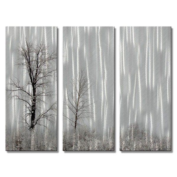 Terra Holcomb 'Stand by Me' Metal Wall Art 3-piece Set