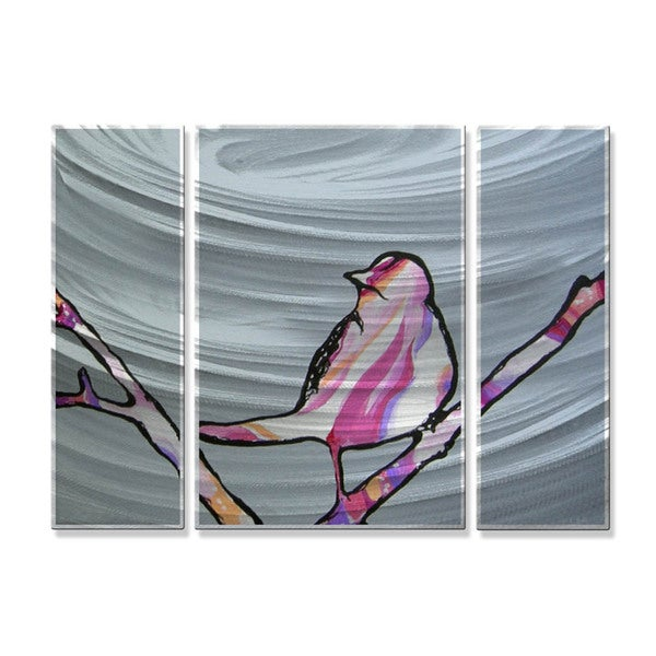 Lorri Murph 'Bird in Between Two Branches' Metal Wall Hanging