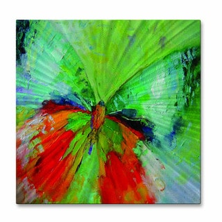 Nelya Taylor 'Green Butterfly' Metal Wall Hanging