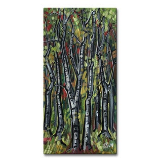 Roger Akesson 'Birch Trees 5' Metal Wall Sculpture