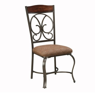 SB Signature Design by Ashley Glambrey Brown Upholstered Side Chair (Set of 4)